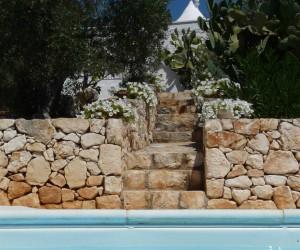 Trullo Bianco - Particolare della piscina